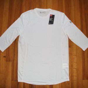 NEW Under Armour HeatGear 3/4 Sleeve Shirt Mens L